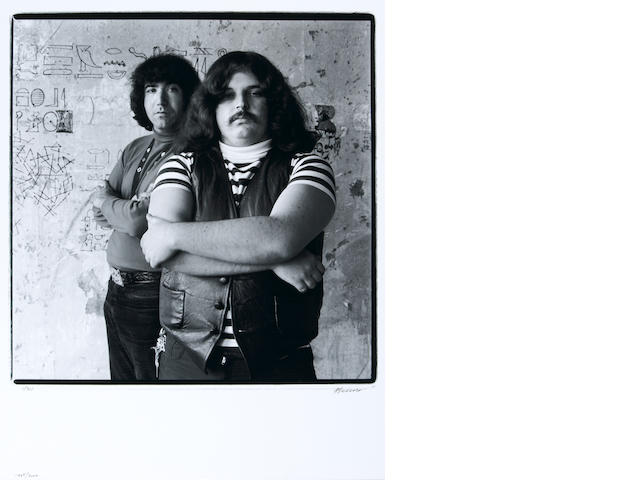 "Photograph by Herb Greene of Jerry Garcia and Ronald ""Pigpen"" McKernan, 1965, signed by Greene"