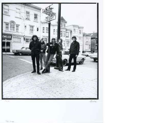 Photograph by Herb Greene of The Grateful Dead, 1967, signed by Greene