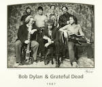Dylan & The Dead original Rick Griffin album artwork, owned and signed by Jerry Garcia, with an original, signed photograph by Herb Greene