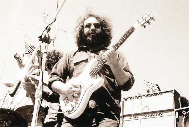 A Bob Minkin signed photograph of Jerry Garcia