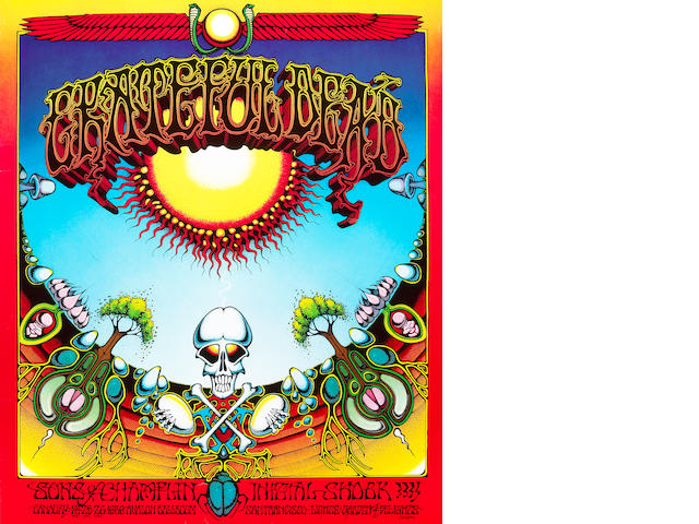 "A Grateful Dead ""Aoxomoxoa"" poster, Avalon Ballroom, San Francisco, January 24, 25 and 26, 1969, owned by Jerry Garcia's brother, Clifford ""Tiff"" Garcia"