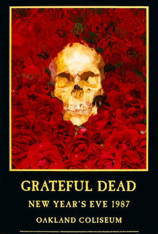 Grateful Dead concert poster, New Year's Eve, 1987, Oakland Coliseum