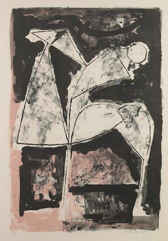 Marino Marini, L'Attesta, 1965, (GL 84), color lithograph