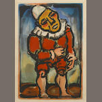 Georges Rouault, Le Petit Nan, (CR 243), color aquatint