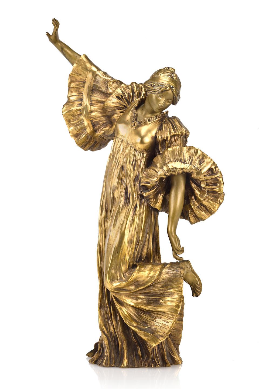 Agathon Léonard (French, 1841-1923) Danseuse Au Cothurne from Le jeu de l'écharpe