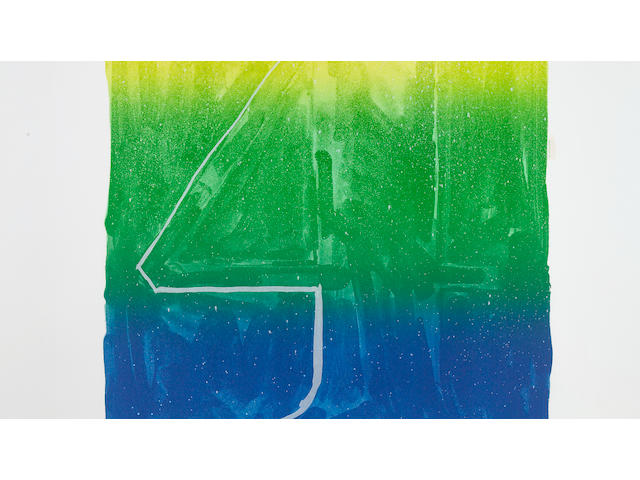 Jasper Johns (American, born 1930); Figure 4, from Color Numeral Series;