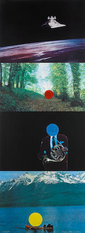John Baldessari (American, born 1931); French Horn Player (with Three Contexts One Uncoded);