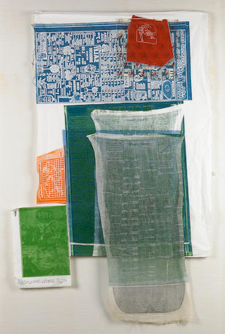 Robert Rauschenberg (American, 1925-2008); Platter, from Airport Series;