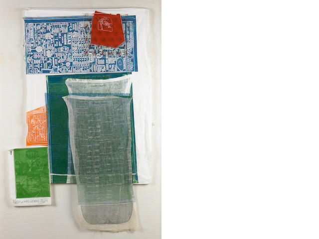 Robert Rauschenberg (American, 1925-2008); Platter, from Airport Series ;