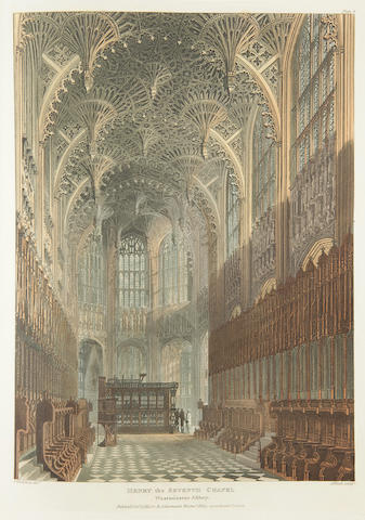 ACKERMANN, RUDOLPH, publisher. The History of the Abbey Church of St. Peter's Westminster, Its Antiquities and Monuments. London: R. Ackermann, 1812.
