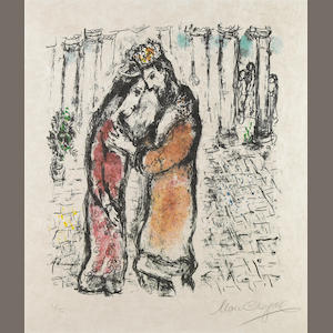 Marc Chagall (Russian/French, 1887-1985); David and Bathsheba;