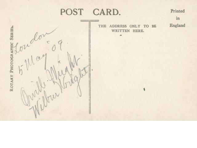 WRIGHT BROTHERS—SIGNED. Postcard published by Rotary Photographic Series,
