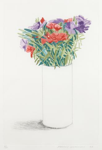 David Hockney (British, born 1937); Godetia;