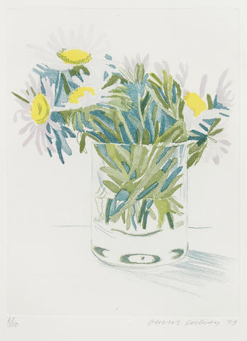 David Hockney (British, born 1937); Marguerites;