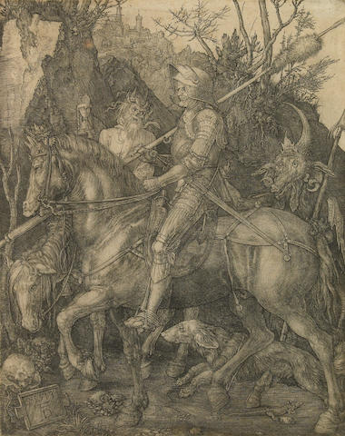 Albrecht Dürer (German, 1471-1528); Knight, Death and the Devil;