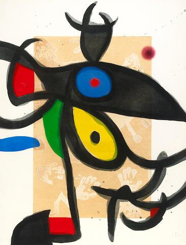 Joan Miró (Spanish, 1893-1983); Inceste au Sahara;