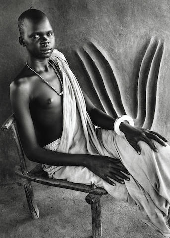 Sebastião Salgado (Brazil, b. 1944) Dinka Girl, South Sudan, 2006, Gelatin silver print, 20 x 24  inches; Signed, titled & dated in pencil on verso, 06-2-90-48