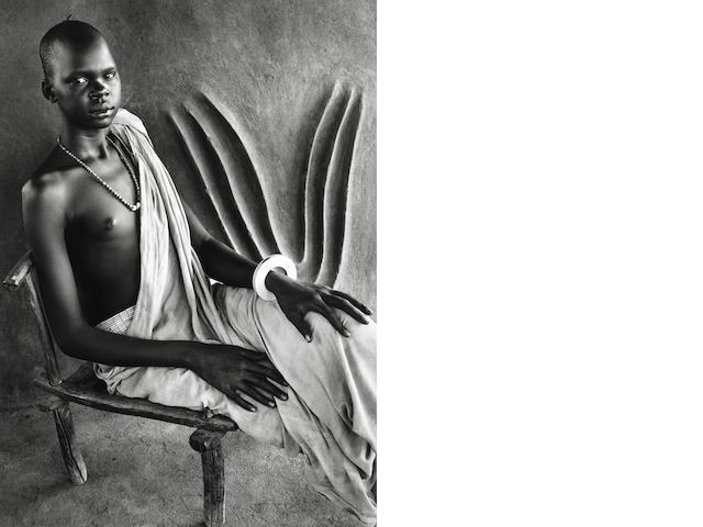 Sebastião Salgado (Brazil, b. 1944) Dinka Girl, South Sudan, 2006, Gelatin silver print, 20 x 24  inches; Signed, titled & dated in pencil on verso, 06-2-90-48
