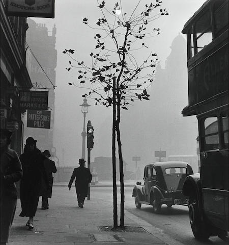 Wolf Suschitzky, London, View from 84 Charing Cross Road, 1937, Gelatin silver print, 20 x 16 inches; Signed, titled & dated in pencil on verso