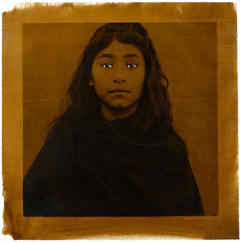 Luis González Palma (Guatemala, b. 1957) La Mirada Critica, 1998, Gelatin silver print, 41 1/2 x 22 inches.  Signed and titled in pencil on verso