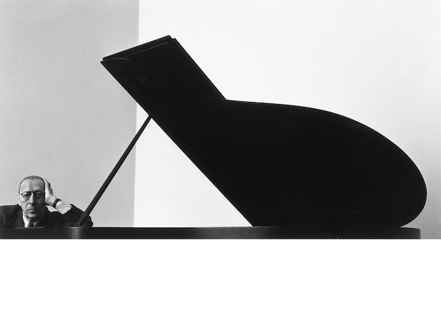 Arnold Newman (American, 1918-2006); Igor Stavinsky, New York City;