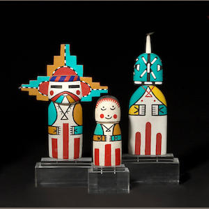 Three Hopi cradle kachina dolls