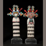 A pair of Hopi cradle kachina dolls