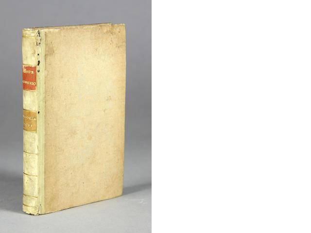 DANTE ALIGHIERI. 1265-1321. L'Amoroso Convivio. Venice: Marchio Sessa, 1531.