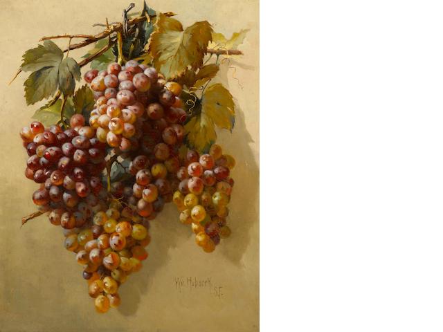 William Hubacek (American, 1871-1958) Grapes 20 1/4 x 16in