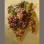 William Hubacek (American, 1871-1958) Grapes 20 1/4 x 16in