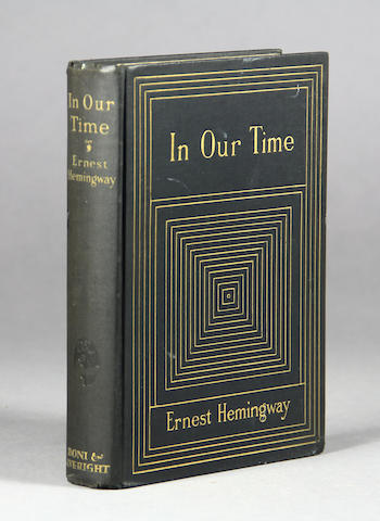 HEMINGWAY, ERNEST. 1899-1961. In Our Time. New York: Boni & Liveright, 1925.
