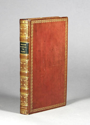[COMBE, WILLIAM. 1741-1823.] Doctor Syntax in Paris. London: for W. Wright, 1820.