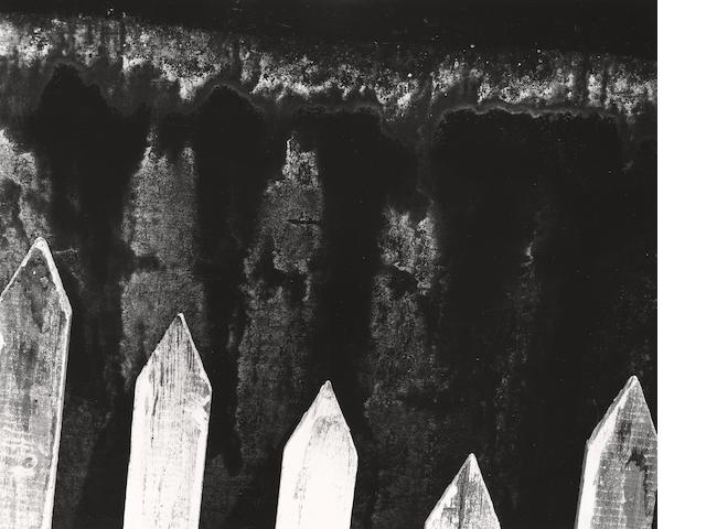 Walter Chappell (American, 1925-2000); Picket Fence;