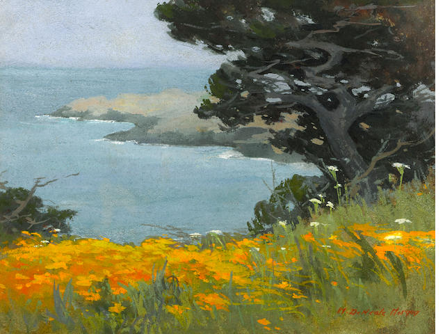 Mary DeNeale Morgan (1868-1948) Point Lobos sight: 11 3/4 x 15 1/2in