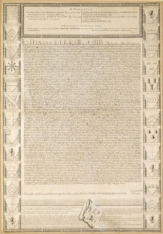 MAGNA CARTA—1733. London: Sold by Robert Edge Pine, [after 1733].