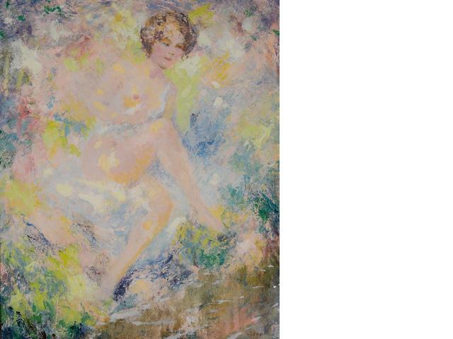 William Clapp (American, 1879-1954) Nude  18 x 15in