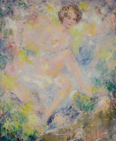 William Clapp (American, 1879-1954) Nude  18 x 15in