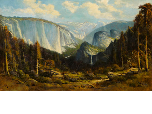 Manuel Valencia (American, 1856-1935) Yosemite Valley 38 1/4 x 57 3/4in