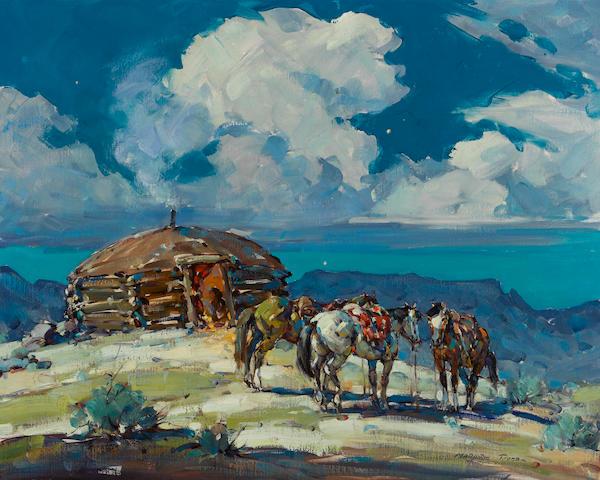 Marjorie Jane Reed (American, 1915-1996) Mysteries of the Navajoland 24 x 30in