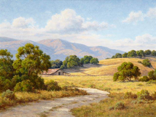 David Chapple (American, born 1947) Summer shadows 30 x 40in