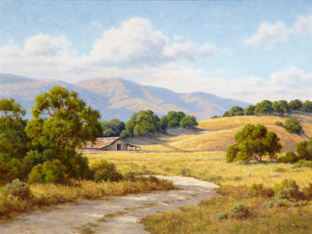 David Chapple (American, born 1947) Summmer Shadows 30 x 40in