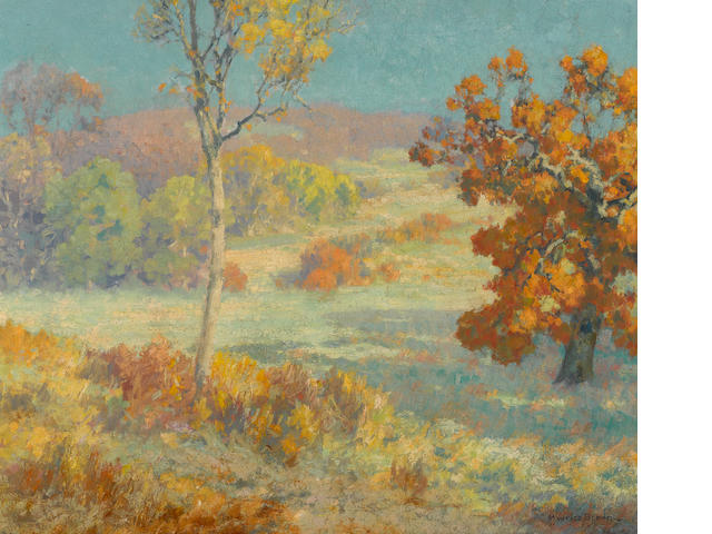 Maurice Braun (American, 1877-1941) A summer day in the hills above San Diego 20 x 24in