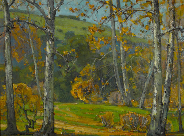 William Wendt (American, 1865-1946) Laguna Canyon 24 1/4 x 32 1/4in