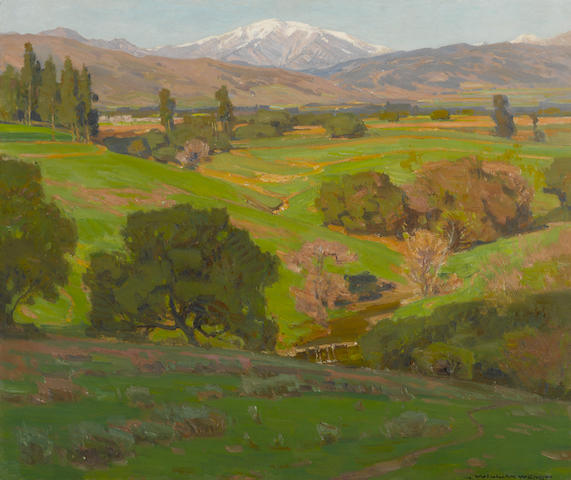 William Wendt (American, 1865-1946) A vista towards Mt. Baldy 25 1/4 x 30 1/4in