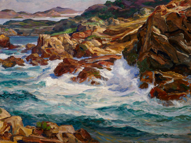Paul Dougherty (American, 1877-1947) Point Lobos (California Highway) 36 x 48in