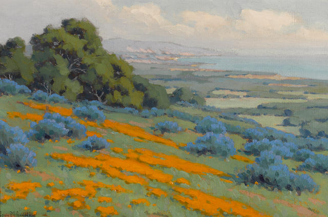 John Marshall Gamble (American, 1863-1957) California coastal colors 12 x 18in