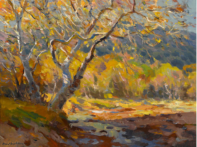 Kevin MacPherson (American, born 1956) Golden time 12 x 16in