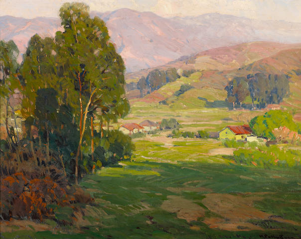 Hanson Puthuff (American, 1875-1972) Home valley 20 x 25in