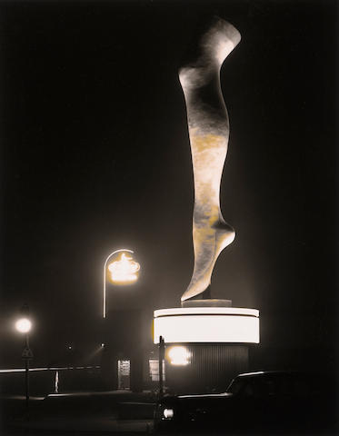 Max Yavno, The Leg, gelatin silver print, signed, 13 1/4 x 10 1/4 inches ///