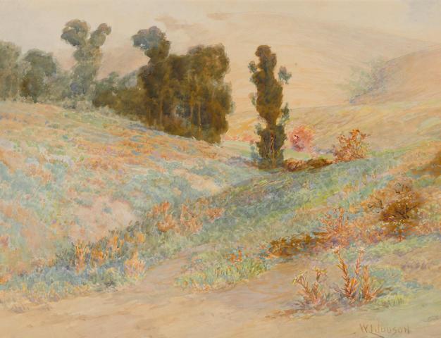 William Lees Judson (American, 1842-1928) Sleepy Hollow in Laguna 17 x 22in
